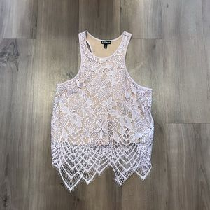 Express Lace Crop Tank